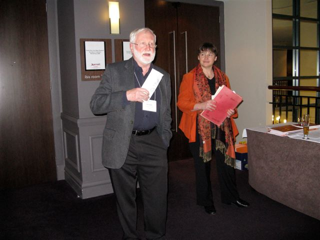 TIC Workbook launch by Alan Walker, with Glenda Browne